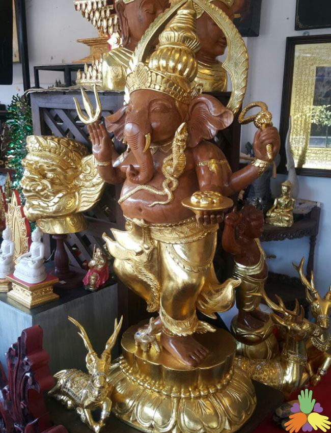 Antique one piece Ganesha
