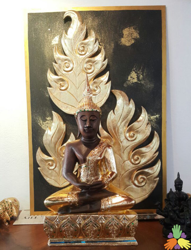 Half Gold Plated Buddha