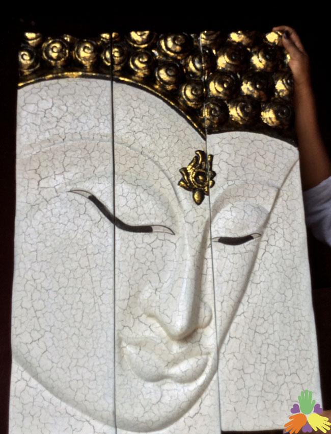 3 Piece Buddha White